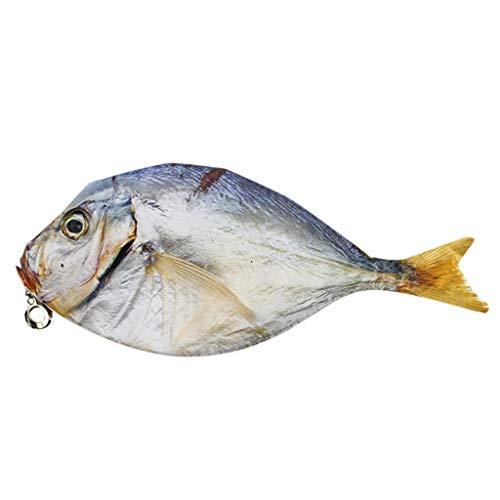 Xuthuly Unisex Student Fashion Reißverschluss Karpfen Fisch Form Make-up Beutel Federmäppchen Federbeutel