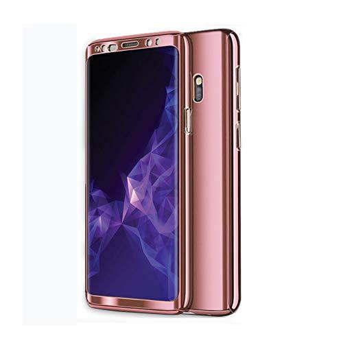 Zater Hülle für Samsung Galaxy S8/S9 Hüllen, Galaxy S7 Handyhülle 3 in 1 Ultra Dünn Hartschale 360 Grad Hart PC Hardcase Cover Schutzhülle für Galaxy S9 Plus/S8 Plus (Roségold, Samsung Galaxy S7)