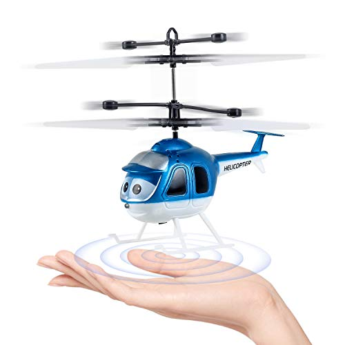 CHwares Mini helicóptero del Vuelo de RC, Creative Mano Suspensión RC Avión Helicóptero de Juguete de Infrarrojos de detección de inducción Flying Drone para niños y Adultos