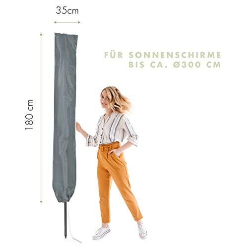 Purovi Schutzhülle für Sonnenschirme, Grau, 35x180 cm - 2