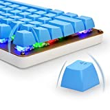 Bossi PBT Spherical Keycaps Set | DoubleShot PBT Backlit Keycaps Set for Mechanical Keyboard and Key Puller - Blue(Only Keycaps)