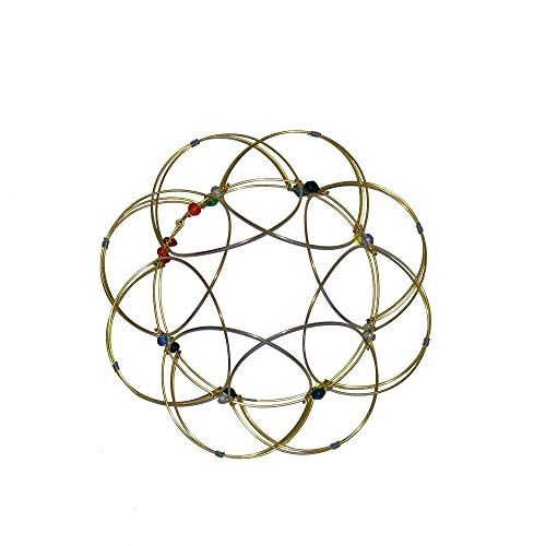 Golden Mandala Lotus Flower Flexible Sphere Office Desk Fidget Toy Anxiety and Stress Relief Intellectual Puzzle