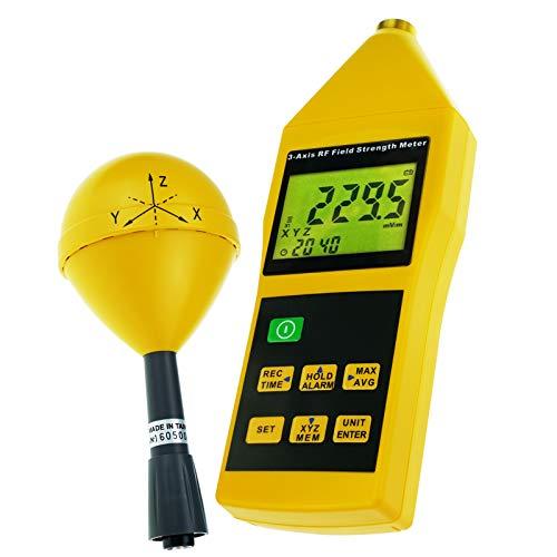Misuratore Di Intensità Di Campo Elettromagnetico Triassiale RF Tester Da 10MHz A 8GHz Con Montaggio Di Allarme E Treppiede, Compatto, Mini