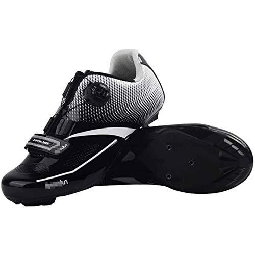 BHHT Calzado De Ciclismo para Hombre Calzado De Bicicleta De Carretera, Fibra...