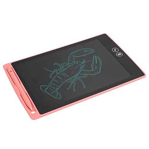 Germerse Tablero de Escritura, Tableta de Mensajes de 8.5 Pulgadas, Tableta LCD, para Pintar niños(Pink)