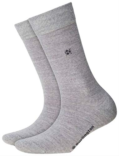 BURLINGTON Damen Socken Bloomsbury, Schurwollmischung, 1 Paar, Grau (Light Grey 3770), Größe: 36-41