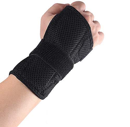 Lyeiaa Handgelenk Schienen Bandage Handgelenkbandage Links RechtsHandbandage Handschutz für Sport, Sehnenscheidenentzündung & Handgelenk Schmerzen, Karpaltunnelsyndrom Verstärkte, Schwarz