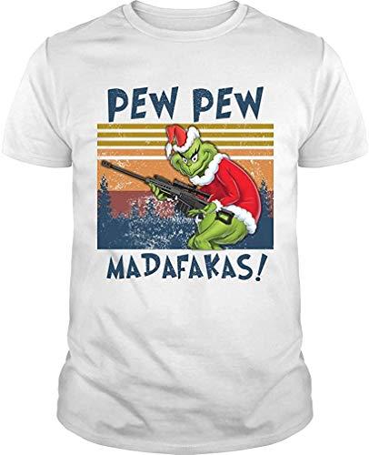 Zmli Divertido disfraz de Pap Noel, GreenGrinch Madafakas Motherfcker, camiseta de regalo vintage