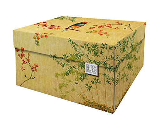 Cajas de almacenamiento decorativas con tapa – Tamaño: 38,9 x 31,8 x 21,1 cm – Cajas de almacenamiento con tapa – Cartón reciclable certificado FSC (Impresión: Japanese Blossom)