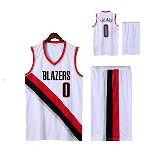 LVADE Damian Lillard T-Shirts voor Mannen Portland Trail Blazers 0# Basketball Jersey, voor Kinderen Studenten Jonge Volwassenen Outfit Mouwloos Premium Multi-Colored Goede Match Fitness Nieuwe