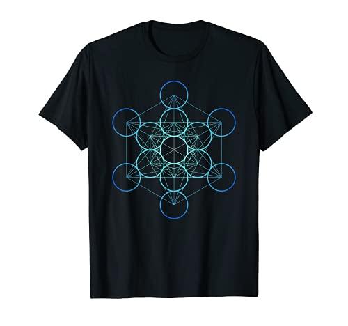 Indigo Metatron's Cube, Sacred Geometry T-Shirt