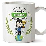 MUGFFINS Taza Cuñado -Familiares Mundo -Regalos Originales y Divertidos -Tazas de Café y Té