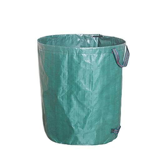 Bolsa de jardín de gran capacidad Saco de hoja reutilizable Papelera de basura de jardín plegable Bolso de almacenamiento de recolección de basura ( Capacity : 120L D45xH76cm , Color : Army green )