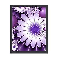 INOV 恋に落ちる抽象的な花及びハート ポスター フレーム付き おしゃれ インテリア インテリア雑貨 アート アートポスター 絵画 絵 壁掛け 30X40CM