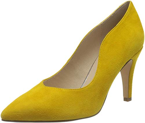 CAPRICE Damen EFFI Pumps, Gelb (Yellow Suede 641), 41 EU