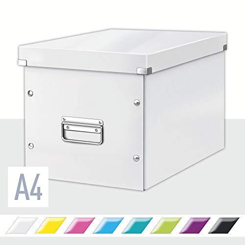 Leitz Click & Store Aufbewahrungs- und Transportbox, Würfelform, Groß, weiß, 61080001