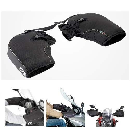 Compatible con Suzuki V Strom 650 ABS cubrepuños Givi TM418 cubremanos Impermeable Universal para Moto y Scooter para manillares sin paramanos Negro