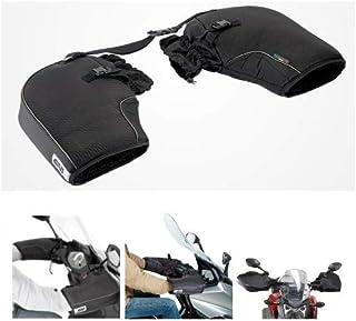 Compatible con BMW R 1200 GS cubrepuños Givi TM418 cubremanos Impermeable Universal para Moto y Scooter para manillares sin paramanos Negro