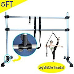 "Durable design and construction:4 FT in width and 30"" base length with durable connection and rubber legs to master perfect ballet technique or for a great fitness workout. Fully Adjustable and light weight:Light weight with 10 punds that a little gi..."