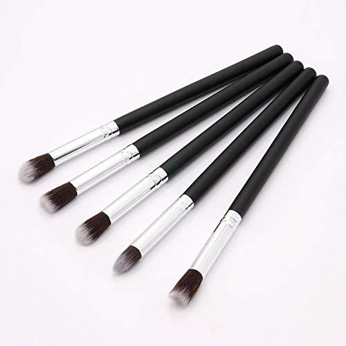 LZJE Pinceaux de Maquillage Set Eye Shadow Foundation Poudre Eyeliner Eyelash Lip Make Up Brush Cosmetic Beauty Makeup Brush, 5PCS-BS