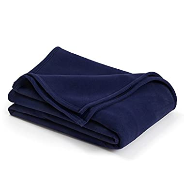 Vellux The Original Blanket - King, Soft, Warm, Insulated, Pet-Friendly, Home Bed & Sofa - Navy