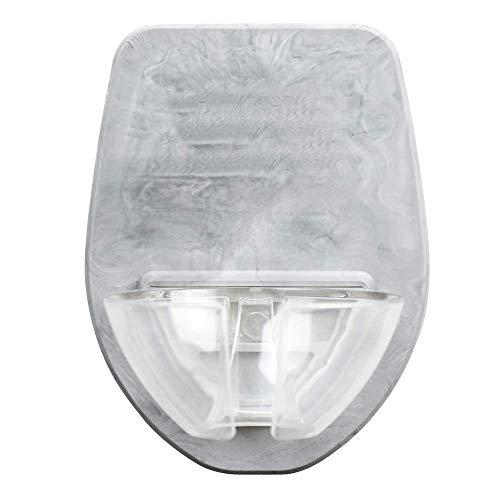 HUKZ Badewanne Weinregal,Watt Kunststoff Weinglashalter für die Dusche im Bad Rotwein Glashalter(Größe: 6,4 x 4,1 x 0,2 Zoll) (Grau)