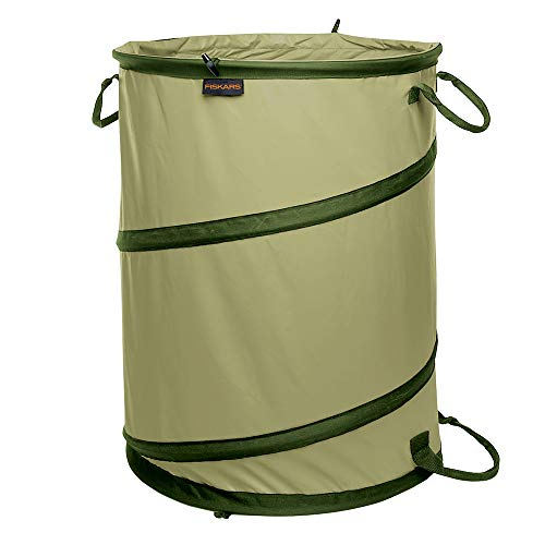 Fiskars Kangaroo Collapsible Container Gardening Bag, 30 Gallon, Green (394050-1004)