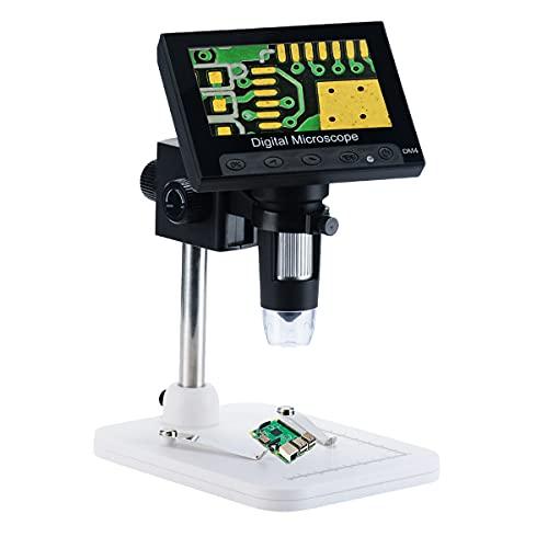 Elikliv 10,9 cm LCD Digital USB Mikroskop Endoskop Aufnahme 1000X Vergrößerung Zoom, 8 einstellbare LED-Licht, Micro-SD Speicher, Kamera Video Recorder für Reparatur Löten