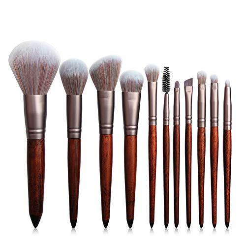 Brosses 11 Pieces Naturel Bambou Maquillage Pinceaux Set Vegan Pro Cosmétiques Kabuki Pinceau Maquillage Pinceau Maquillage Pinceau Maquillage pour les femmes