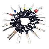SZYZ Terminal de cableado eléctrico automático Extractor de cableado Conector de crimpado Pin Negro 36 unids/Set