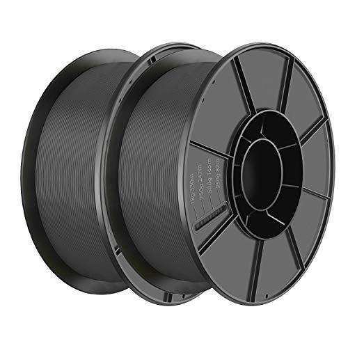 [2Rolls/Pack] PLA Filament 1.75mm 3D Printer Consumables Filamento Impresora 3D, Dimensional Accuracy +/- 0.05 mm [Black,2pcs of Pack]
