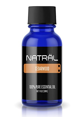 NATRÄL Cedarwood, 100% Pure and Natural Essential Oil, Large 1 Ounce Bottle