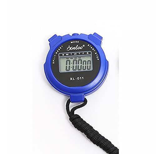 COKEYU Sportuhr-Timer Digitale Stoppuhr Zeit Sport-Stoppuhr Handheld Sport-Stoppuhr Acrylglas-Display für einfache Reinigung Übungs-Timer Intervalltraining EINFACH