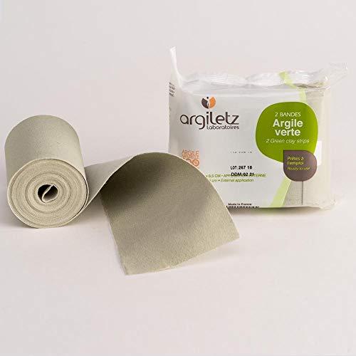 ARGILETZ Lot de 2 paquets de 2 bandes d'argile verte (bandes de 5m x 8,5 cm) - ARCILIA -