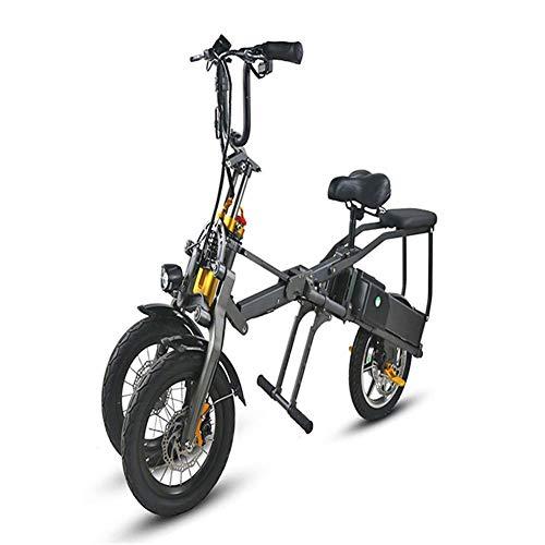 WXDP Cruiser pro Skateboard,Folding Three-Wheeled Electric Bicycle, Hydraulic Disc Brake System, Three-Wheeled Scooter, Lithium Electric Bicycle, Three-Wheeled Fast Folding Bicycle