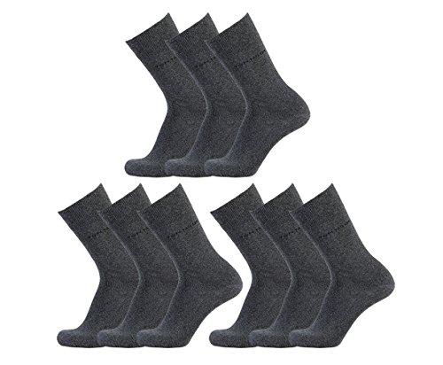 Tom Tailor 9 Paar Business Socken Größe: 43-46 Farbe: Grau