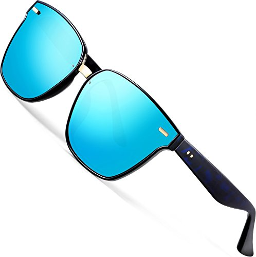 ATTCL Unisex Sunglasses 100% Polarized UV Protection 555-Blue