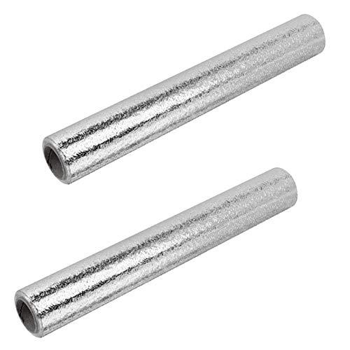 2 Piezas Aluminio Papel Pintado Cocina, Papel Aluminio Autoadhesivo Papel Cocina Impermeable a Prueba Aceite Para Muebles, Mesas(Textura Cáscara Naranja)