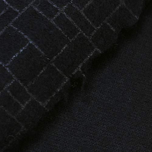 kawenSTOFFE Wollstoff Schwarz Designerstoff Mosaikmuster gekochte Wolle Meterware