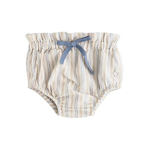Tocoto Vintage Baby Blue Stripe High Waisted Bloomers 6 Months