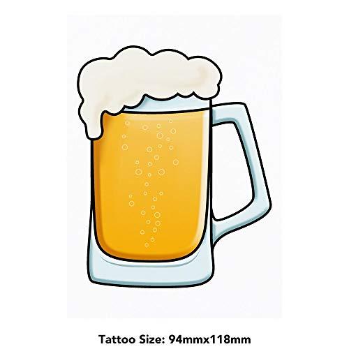 Azeeda Groß 'Glas Bier' Temporäre Tätowierungen (TO00030598)