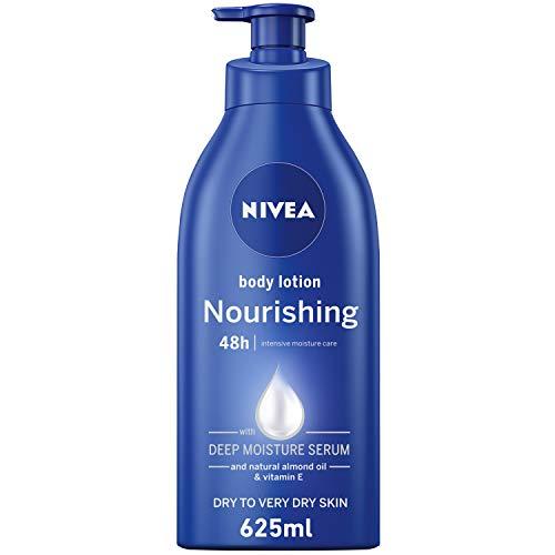 NIVEA Nourishing Body Lotion, Almond Oil & Vitamin E Extra Dry Skin, 625ml