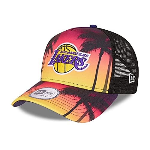New Era Los Angeles Lakers NBA Summer City Purple A-Frame Adjustable Trucker Cap - One-Size
