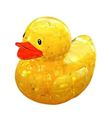 Original 3D Rubber Duck Crystal Puzzle by Bepuzzled brings back happy memories of bathtime fun! The 3D Crystal Puzzles features 43 uniquely-shaped, interlocking, translucent crystalline pieces that give puzzling a whole new dimension The 3D Rubber Du...