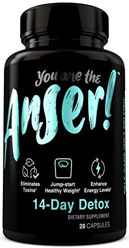 Anser 14-Day Detox Supplement - Cleanse for Weight Loss with Garcinia Cambogia & Green Tea - Boosts Metabolism & Enhances Healthy Energy Levels - Gentle, Vegan Friendly 14 Day Cleanse by Tia Mowry