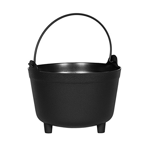Novelty MFG 48128 Antique Kettle Planter, 12-Inch, Black