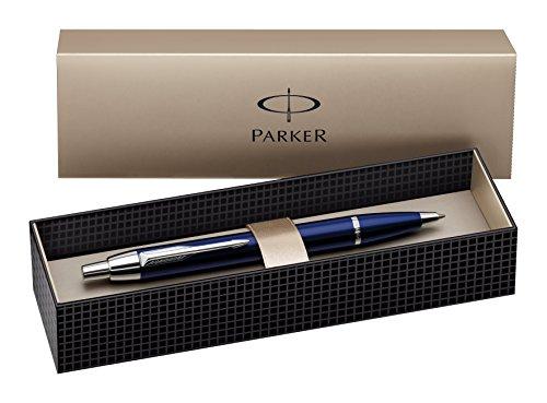 Parker IM - Bolígrafo de punta de bola con caja (adornos en cromo, tinta color azul), color azul