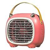 Nrew Ventilador de Aire Acondicionado portátil con Ventilador de enfriamiento de Aire Personal de 3 velocidades con Mango Rojo 180 * 115 * 166 mm