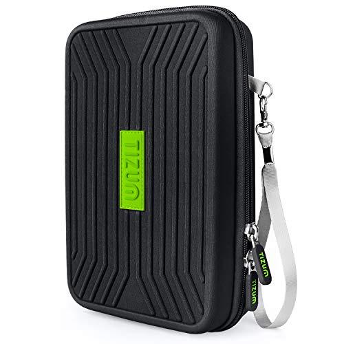 Tizum Portable EVA Universal Electronic Travel Gadgets & Accessories Organizer Multipurpose Pouch, Rugged Travel Friendly (Black)