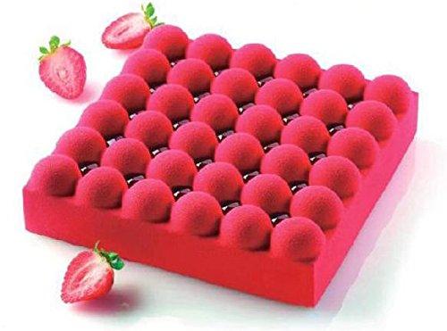 超柔軟シリコンケーキ型 BUBBLE 18cm バブル 1400ml シリコマート silikomartシリコン型 オーブン冷凍兼用(ピスタチオとフランボワーズのムースオリジナルレシピ付)